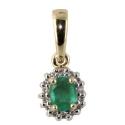 Золото подвески бриллианты изумруд Ювелирная компания МАБЭ