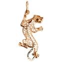 Золото подвеска Леопард Ювелирная компания МАБЭ