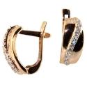 золотые серьги фианит ювелирная компания МАБЭ