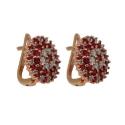 серьги золото  рубин бриллиант ювелирная компания МАБЭ