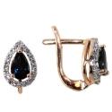 серьги золото сапфир бриллиант ювелирная компания МАБЭ