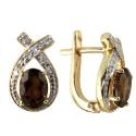 серьги золото раух топаз бриллиант ювелирная компания МАБЭ